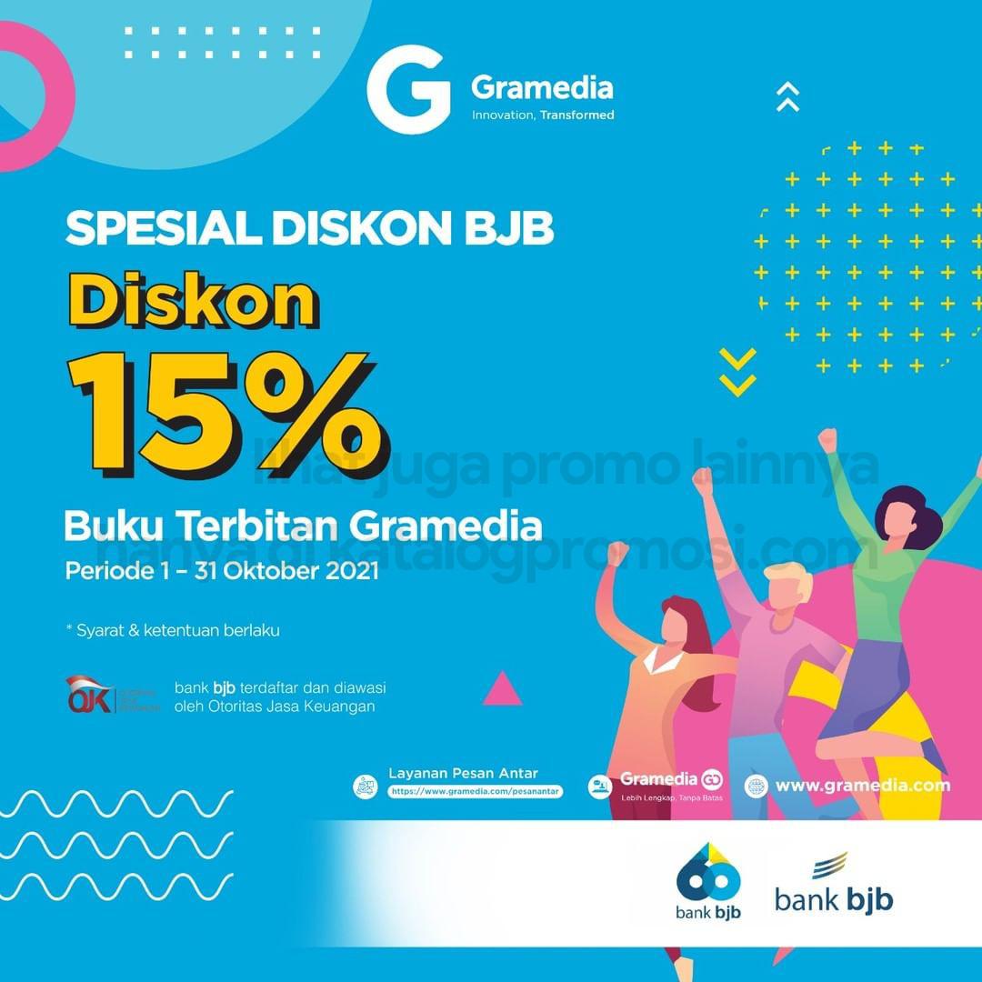 Promo GRAMEDIA - DISKON hingga 15% khusus transaksi dengan Kartu bank BJB