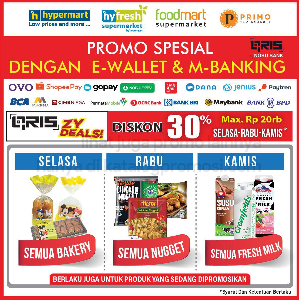 HYPERMART Promo HARGA SPESIAL bayar pakai E-Wallet dan Mobile Banking periode 09-11 Maret 2021