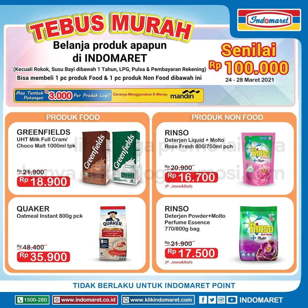 Promo INDOMARET TEBUS MURAH periode 24-28 MARET 2021