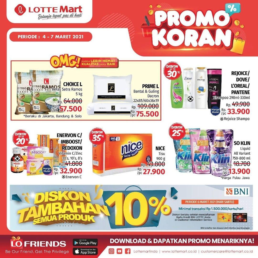 Katalog Promo LOTTEMART RETAIL khusus Weekend periode 04-07 Maret 2021