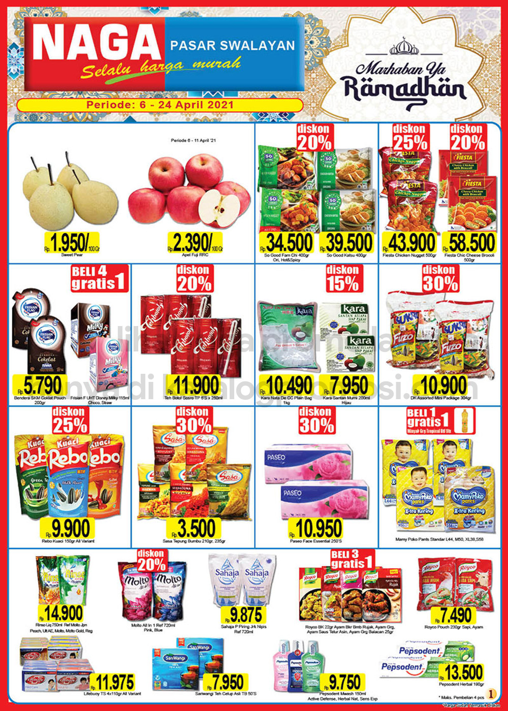 Katalog Promo NAGA SWALAYAN Terbaru Periode 06-24 April 2021