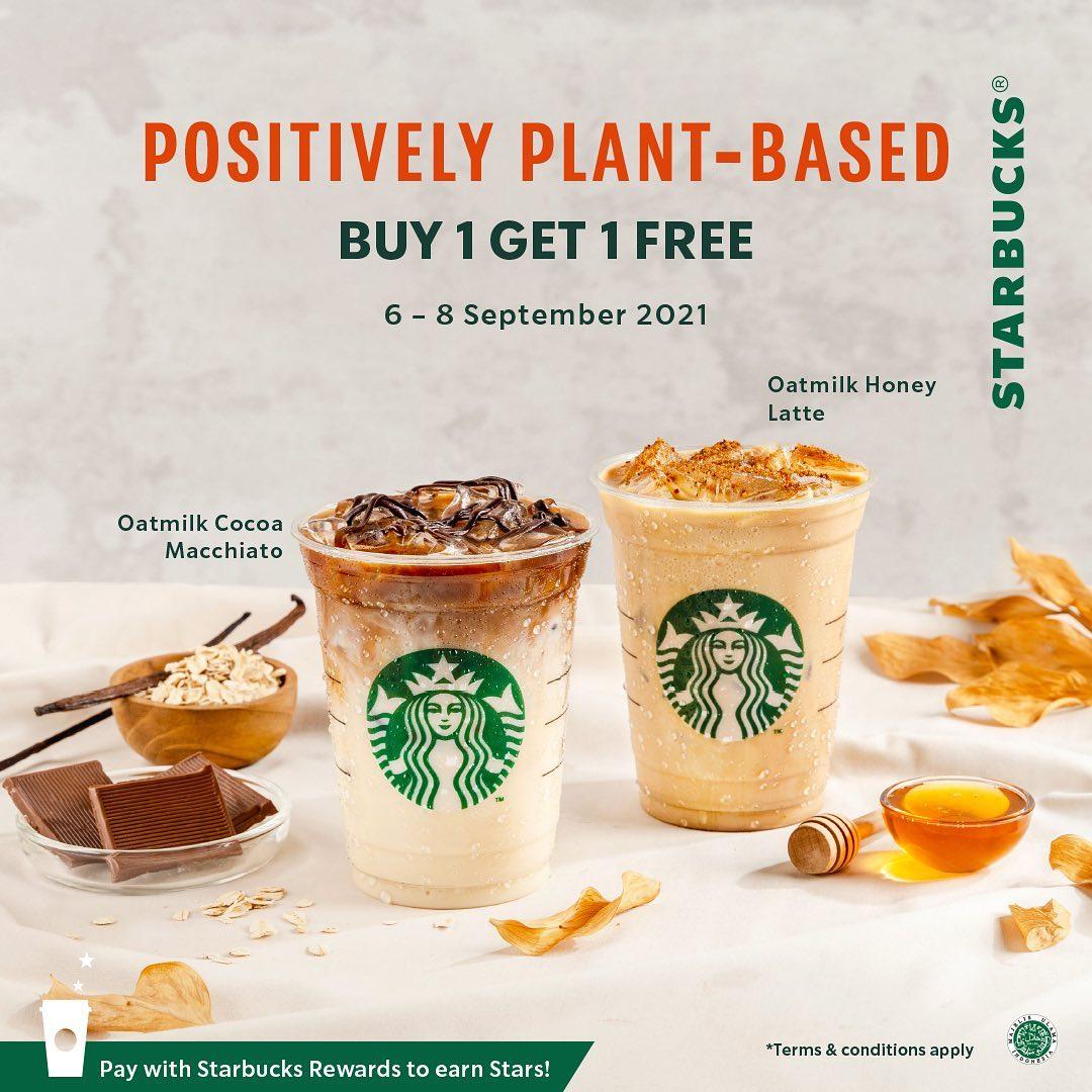 Promo STARBUCKS Positively Plant-Based - Buy 1 Get 1 Free for Autumn Beverage