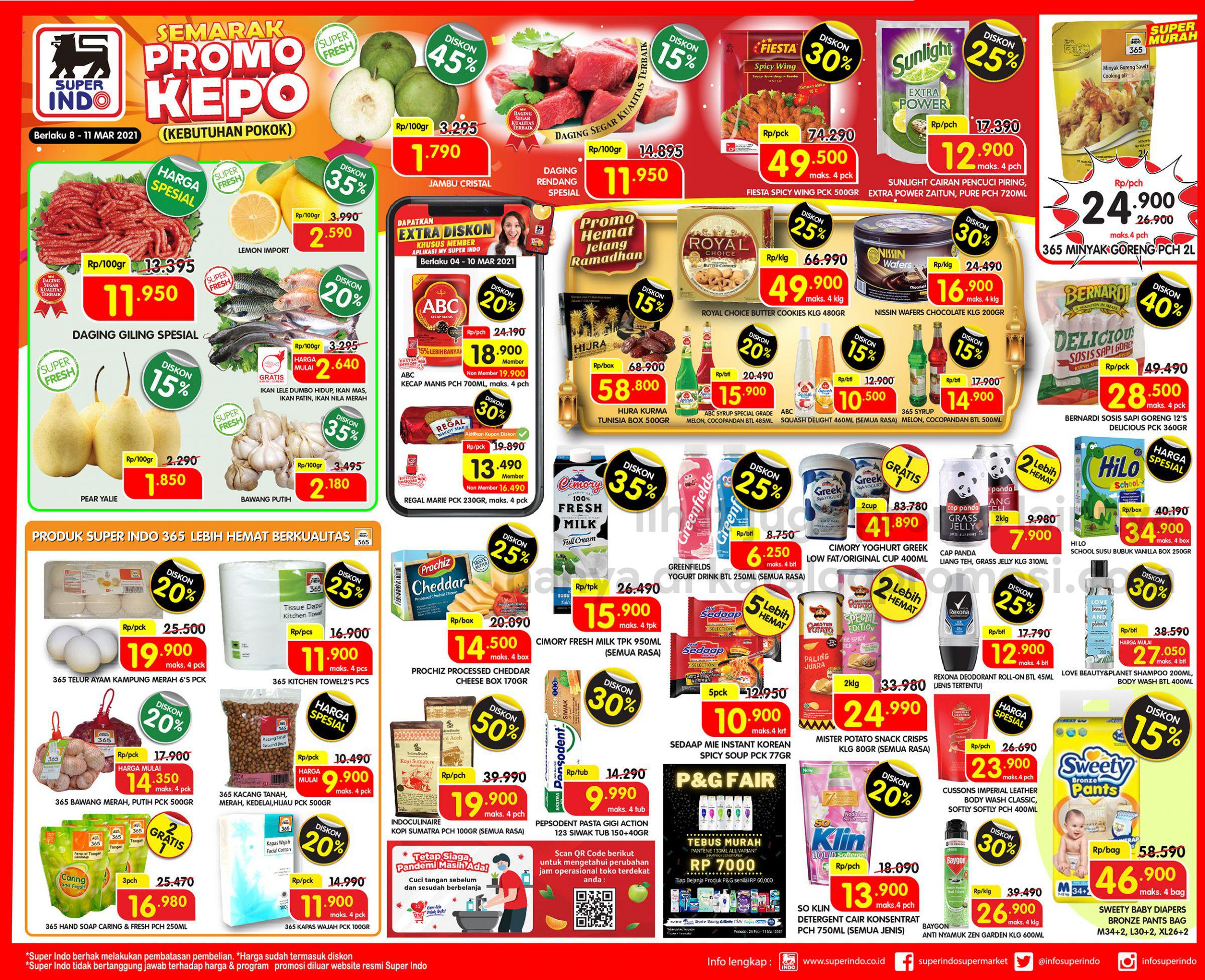 Promo Superindo Katalog Awal Pekan (Weekday) periode 08-11 Maret 2021