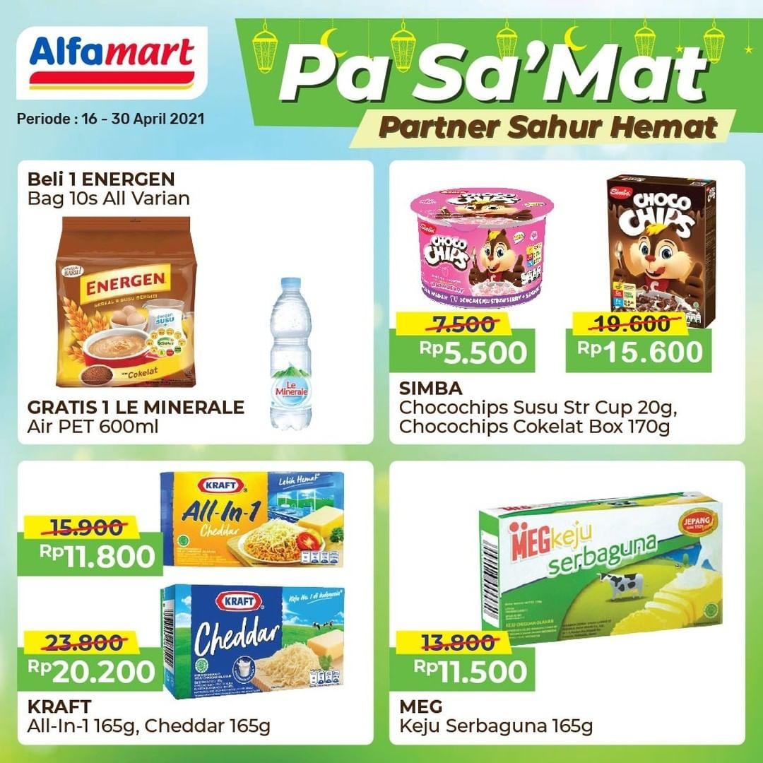 Promo ALFAMART PASAMAT - Patner Sahur Hemat periode 16-30 April 2021