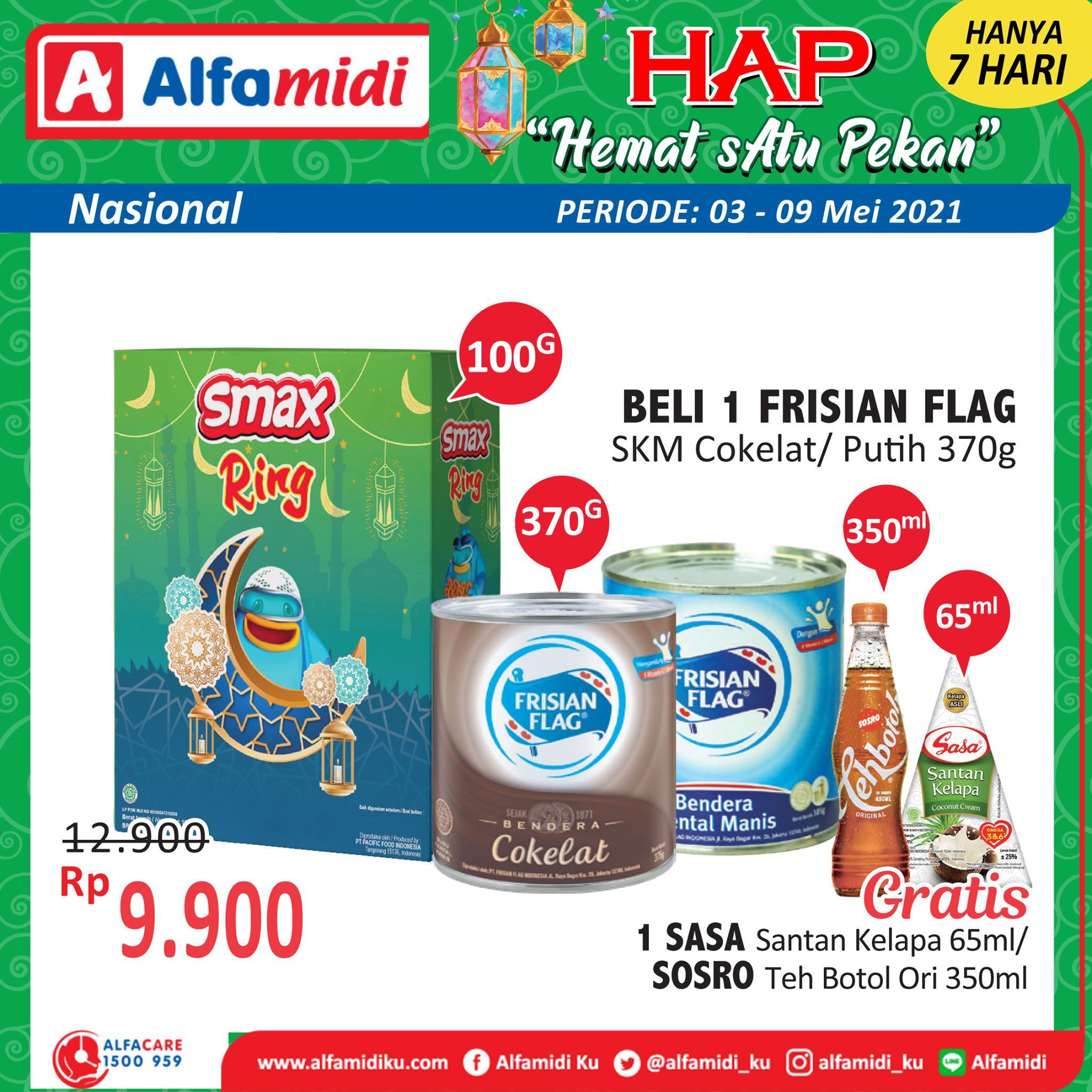 Promo ALFAMIDI HEMAT SATU PEKAN periode 03-09 Mei 2021