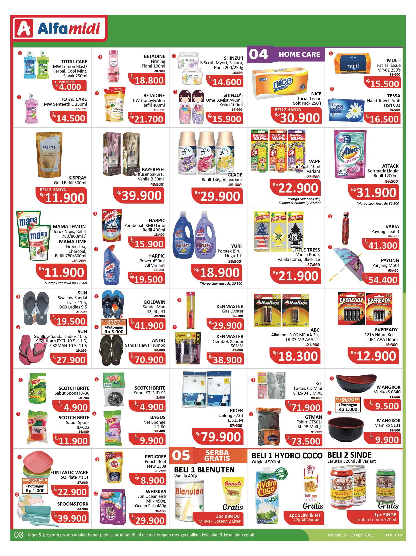 Katalog ALFAMIDI Promo Mingguan Periode 16-30 April 2021