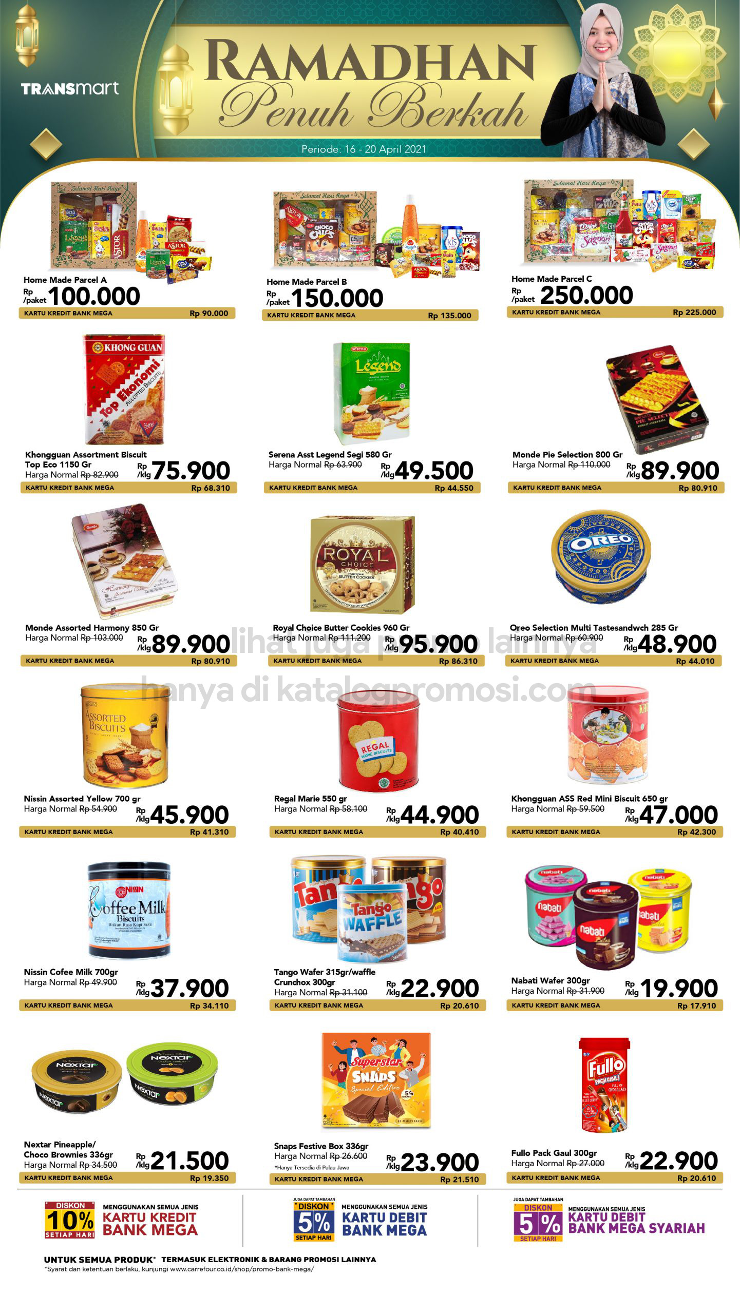 Promo TRANSMART CARREFOUR Katalog Weekend JSM periode 16-20 April 2021