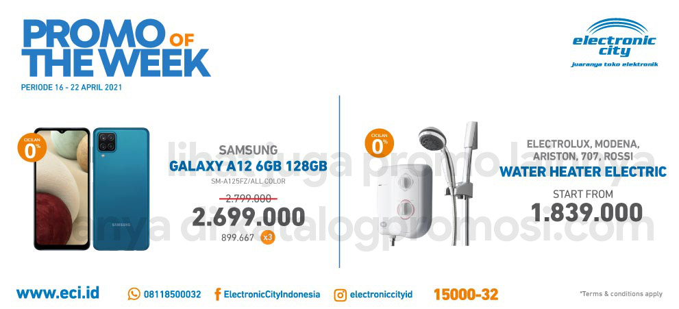 ELECTRONIC CITY Promo HOT DEAL OF THE WEEK PERIODE 16-22 April 2021