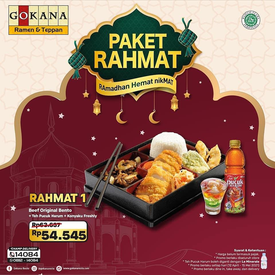 Promo GOKANA PAKET RAHMAT khusus RAMADHAN 2021 - HARGA mulai Rp. 50.455
