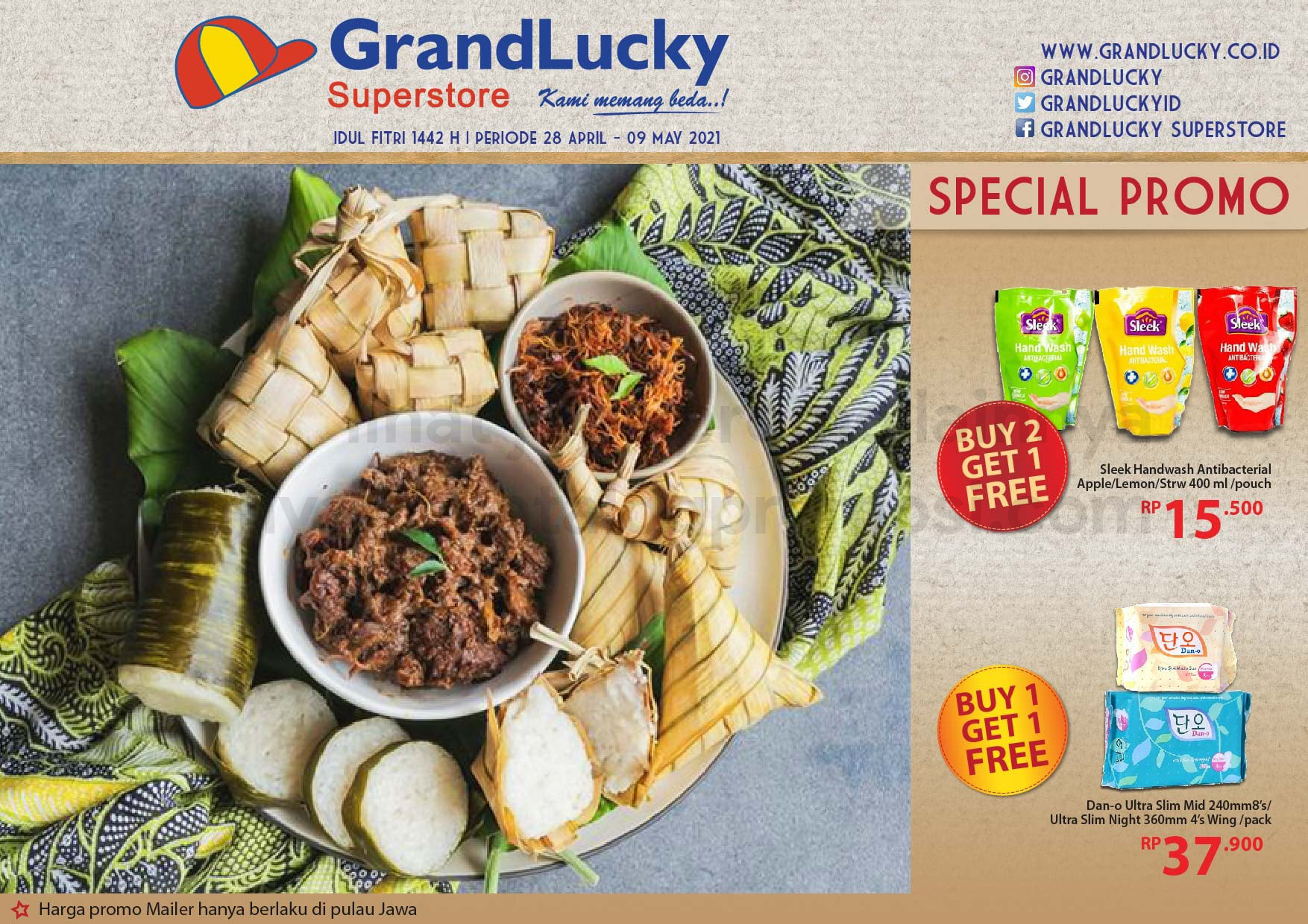 Promo GRAND LUCKY Superstore Katalog Mingguan Periode 28 April - 09 Mei 2021