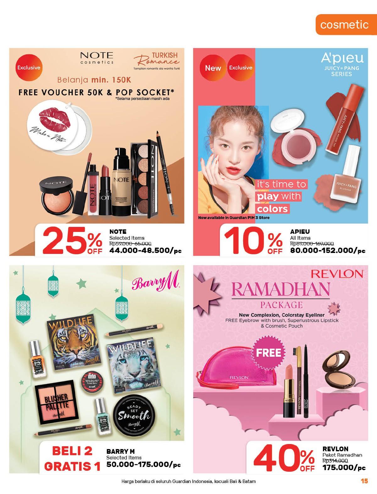 Katalog GUARDIAN Promo Bulanan Periode 22 April - 19 Mei 2021