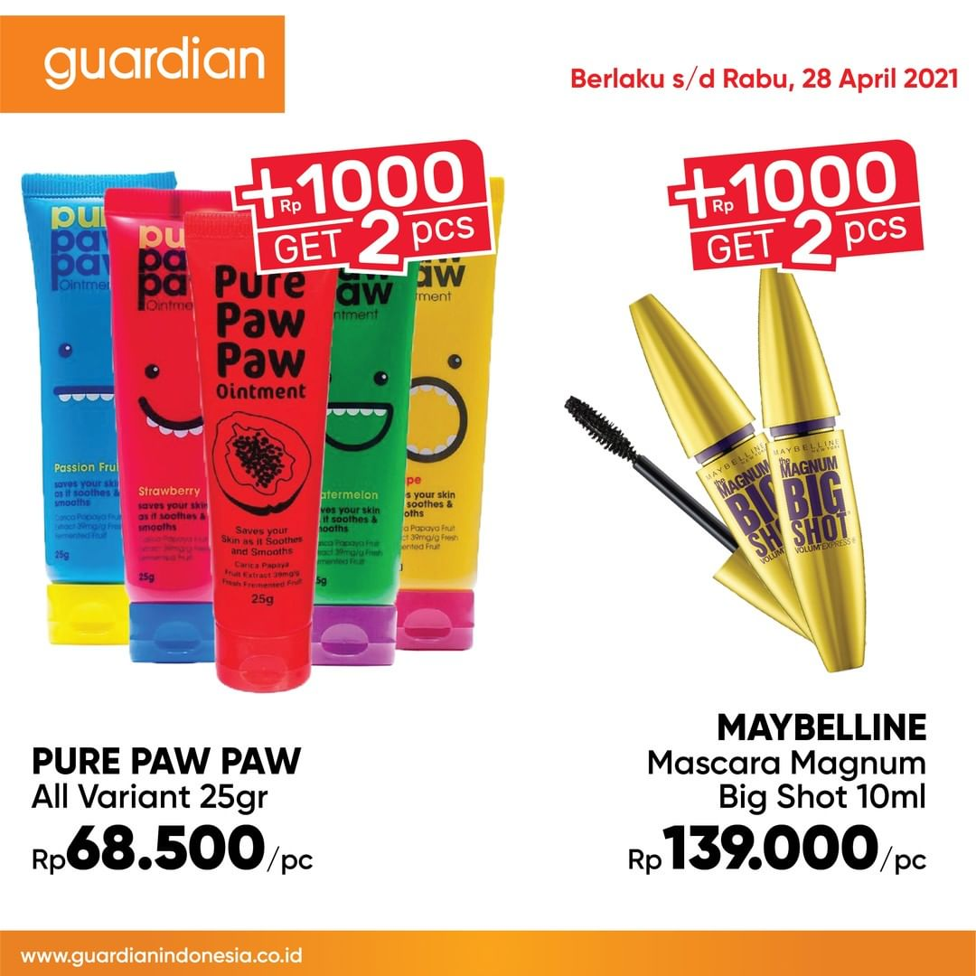 Promo GUARDIAN Katalog Mingguan periode 15-28  April 2021