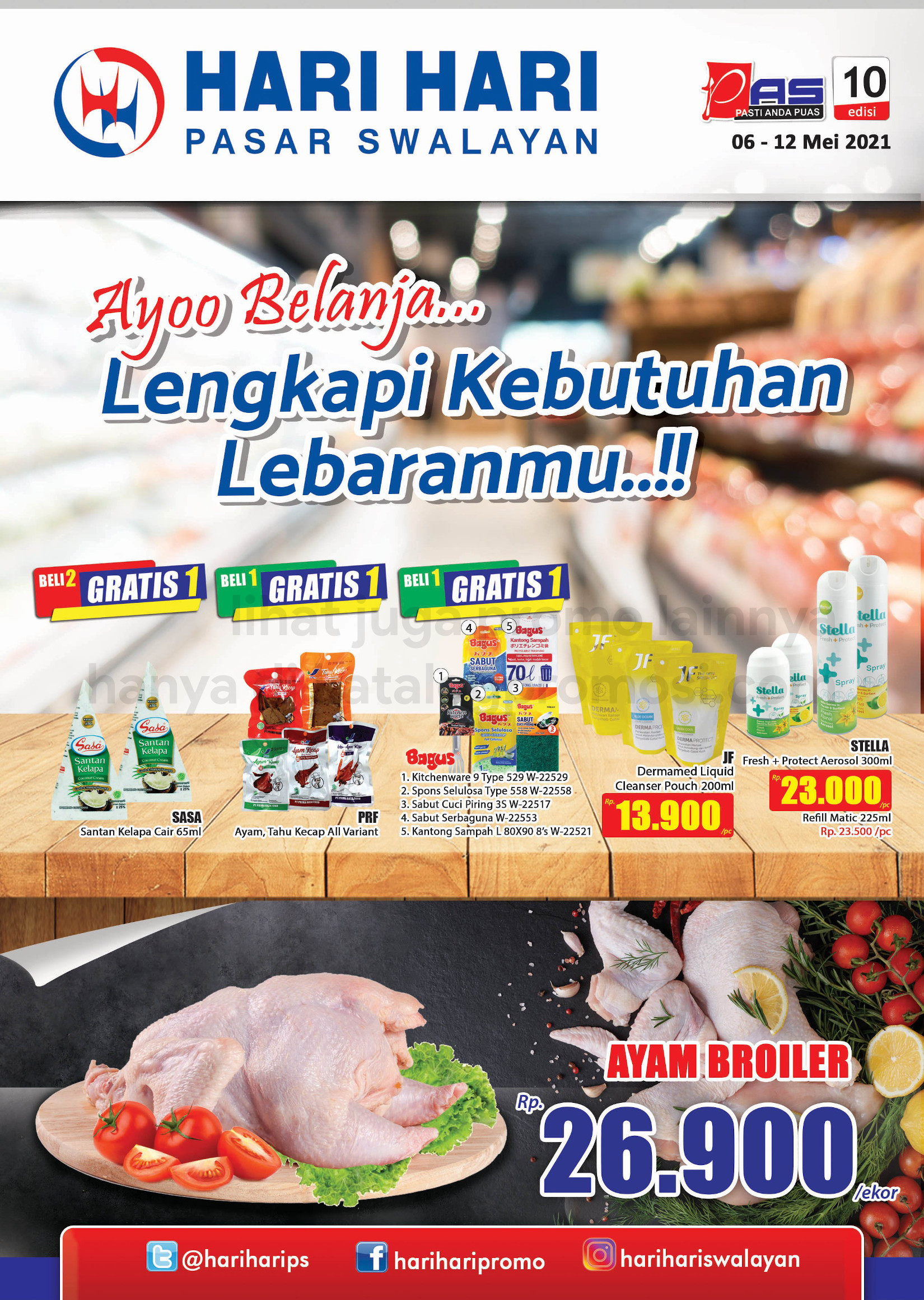 Promo Hari Hari Pasar Swalayan Katalog Mingguan Periode 06-12 Mei 2021