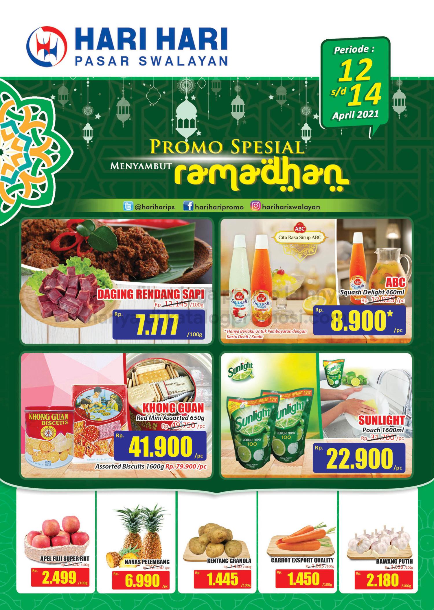 Promo Hari Hari Pasar Swalayan Ramadhan Spesial Periode 12-14 April 2021