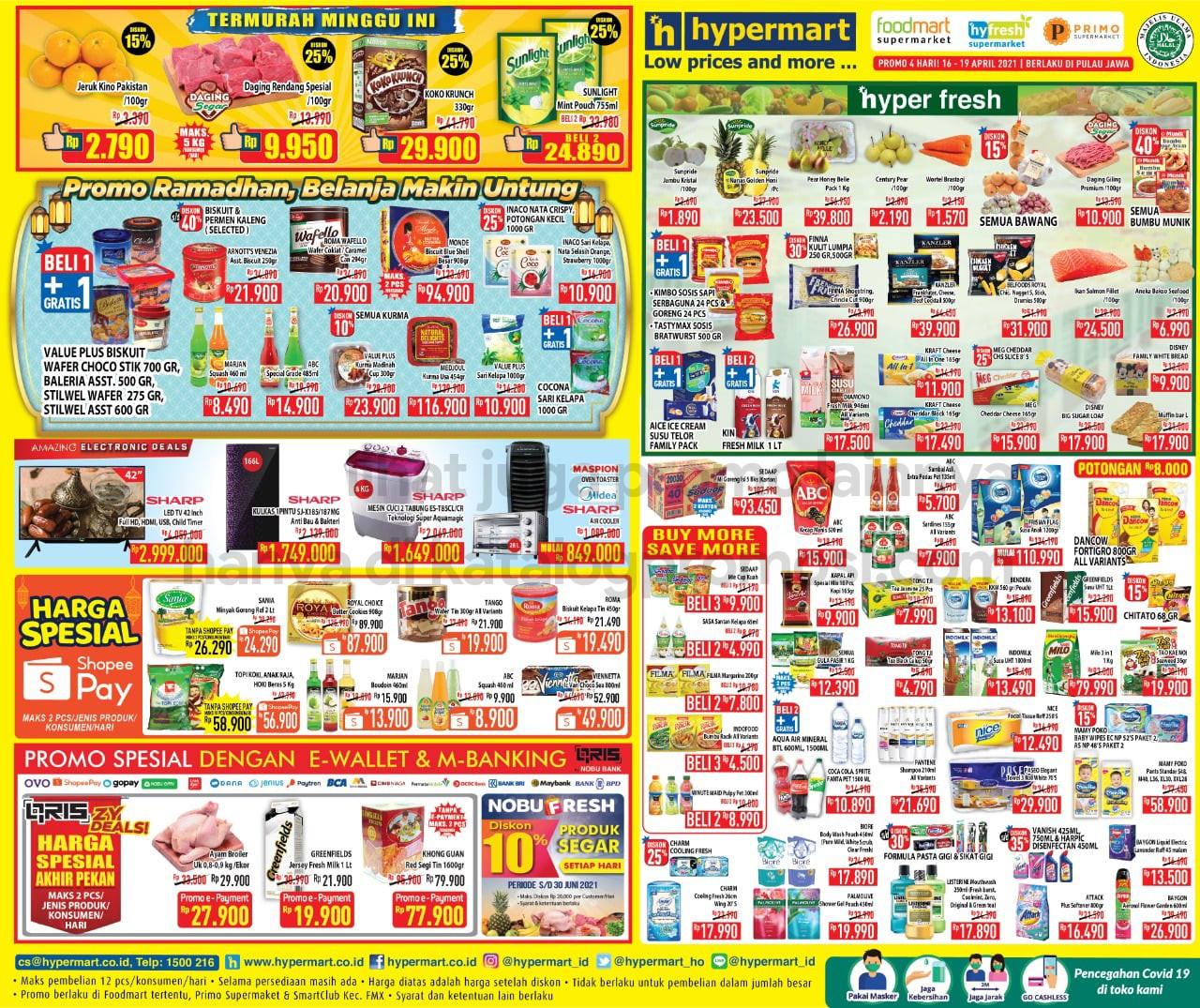 Promo Hypermart JSM Katalog Weekend periode 16-19 April 2021