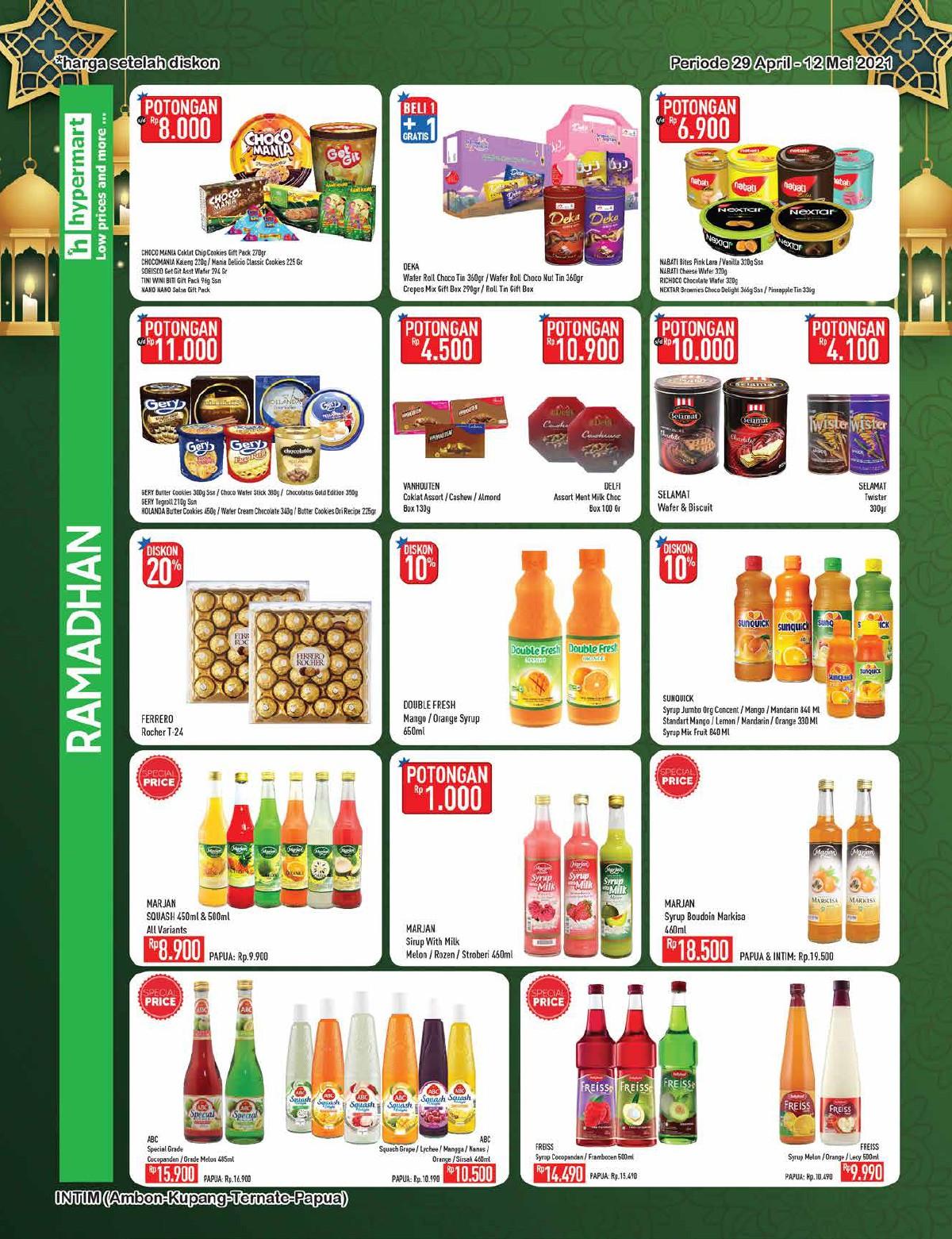Promo Hypermart Katalog Belanja Mingguan periode 29 April - 12 Mei 2021