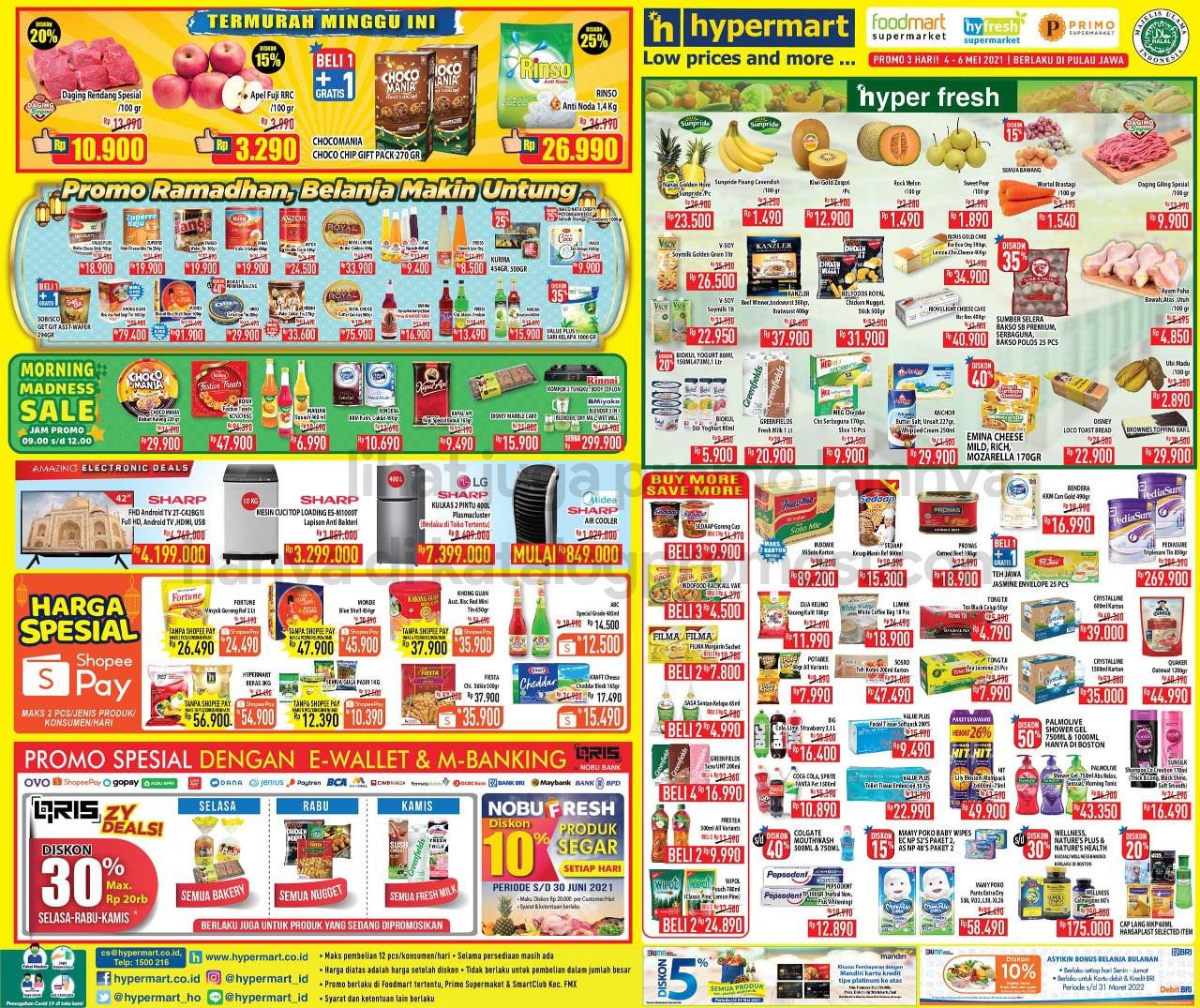 Katalog Hypermart Promo Weekday periode 04-06 Mei 2021