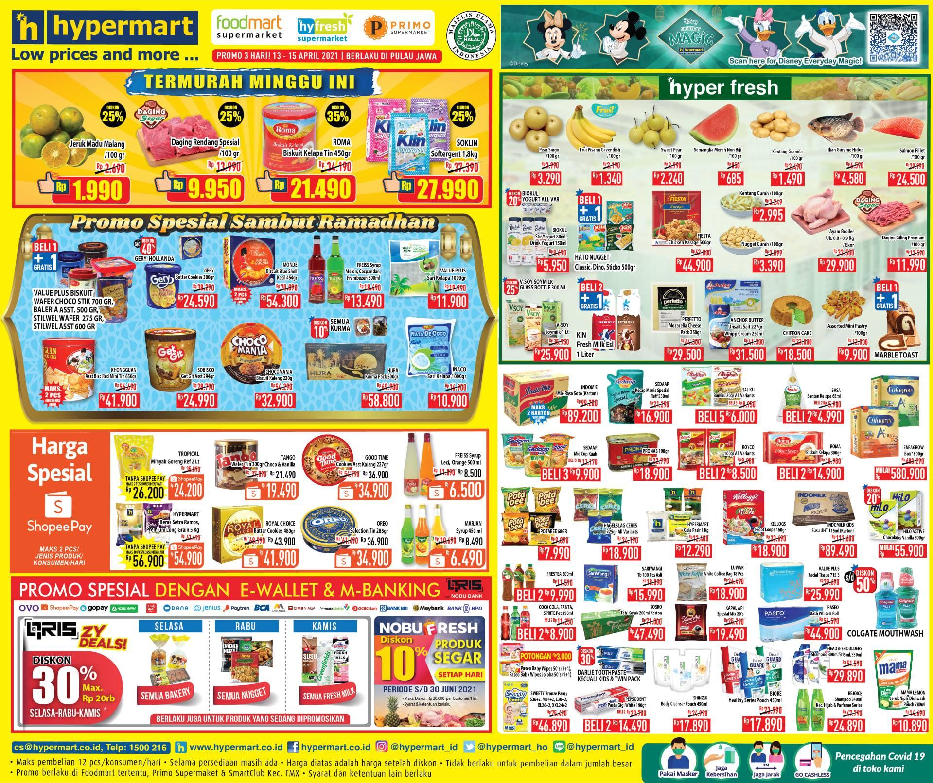 Katalog Promo Hypermart Weekday Hari Terakhir 15 April 2021, Cemilan Murah,  Daging Segar Diskon 25% - Pos Kupang