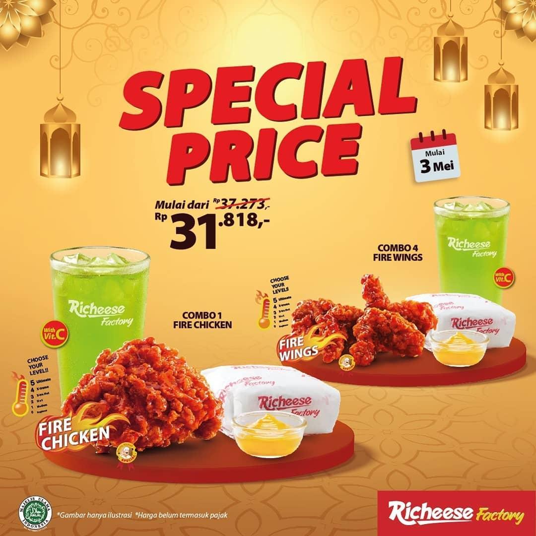 Promo RICHEESE FACTORY TERBARU HARI INI - SPECIAL PRICE Combo Fire Chicken