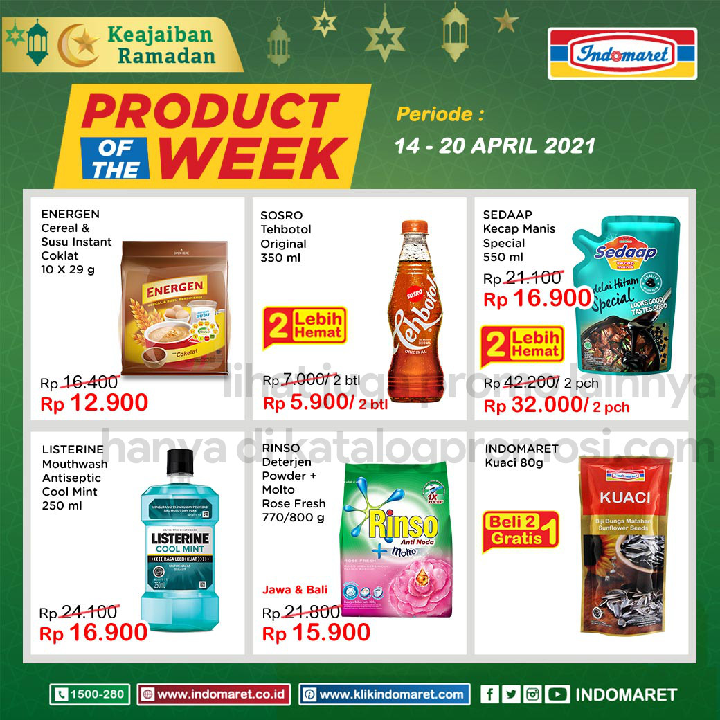 INDOMARET Promo PRODUCT of The Week periode 14-20 April 2021