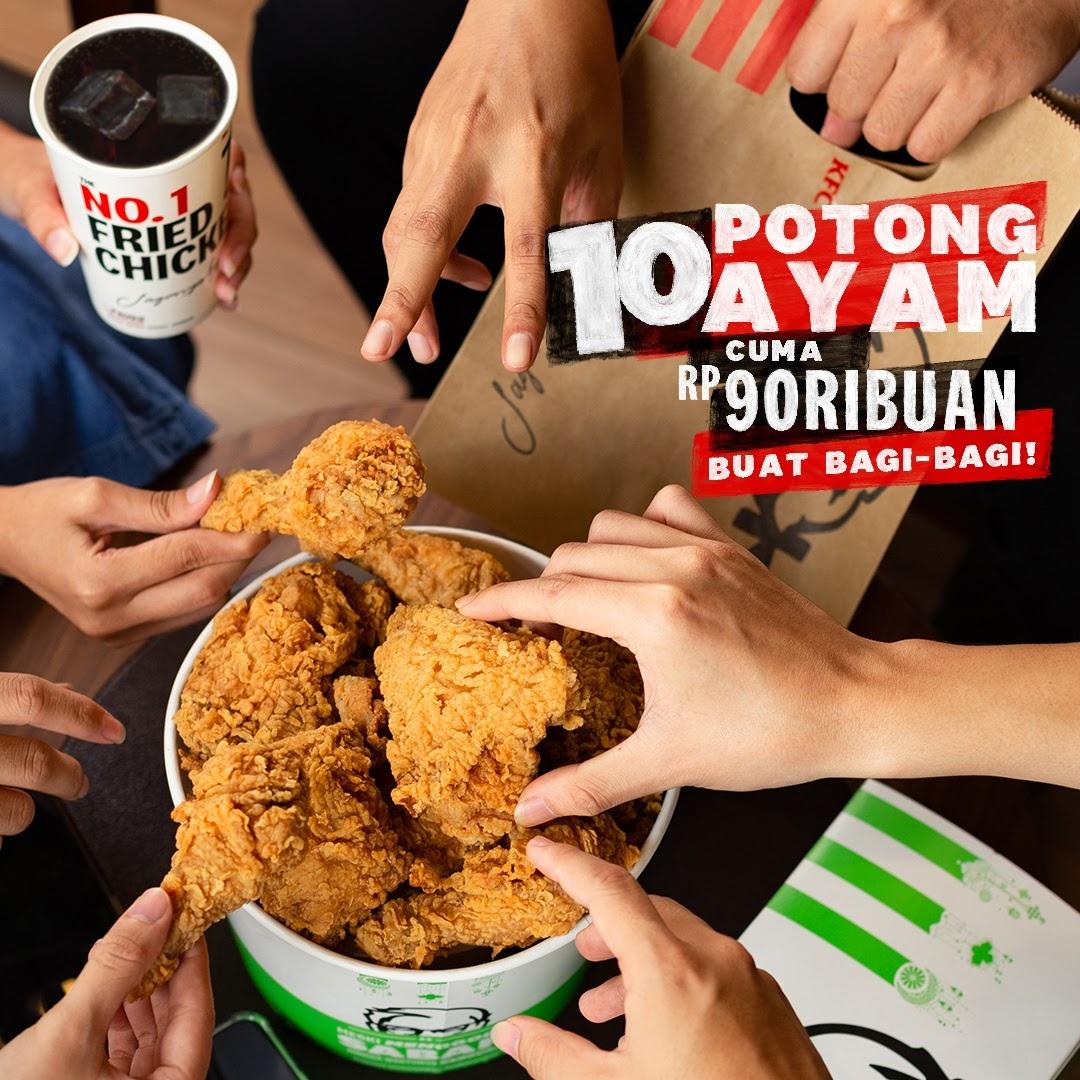 Promo KFC THE BEST THURSDAY – Paket 10 Potong Ayam cuma Rp. 90.000