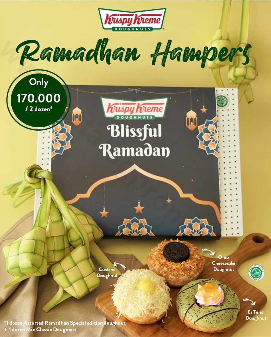 Promo Krispy Kreme Ramadhan Hampers - Paket 2 lusin Krispy Kreme Doughnuts hanya Rp 170.000** berlaku sd. tanggal 07 Mei 2021