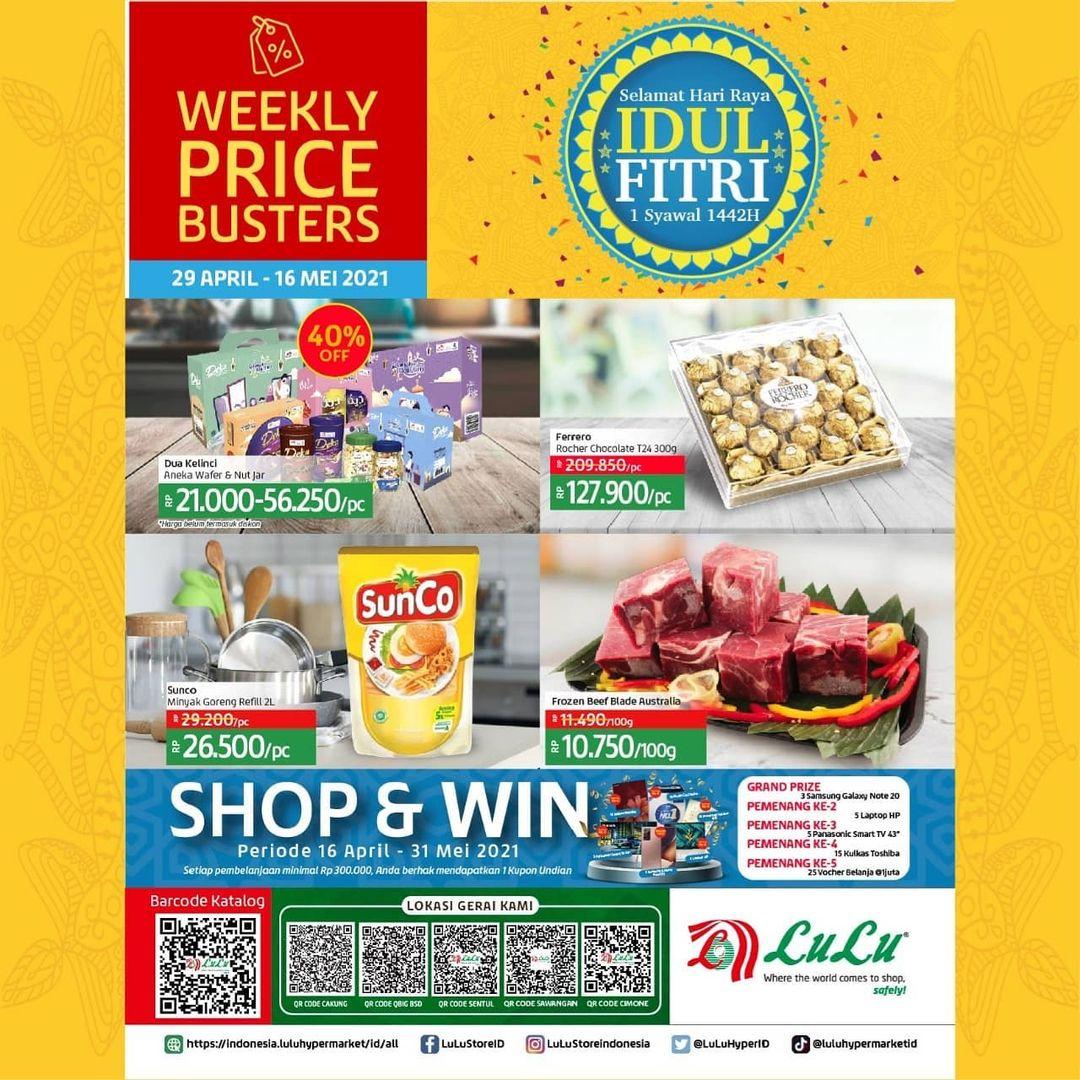 Katalog LuLu Hypermarket & Department Store Edisi Hari Raya Idul Fitri periode 29 April - 16 Mei 2021