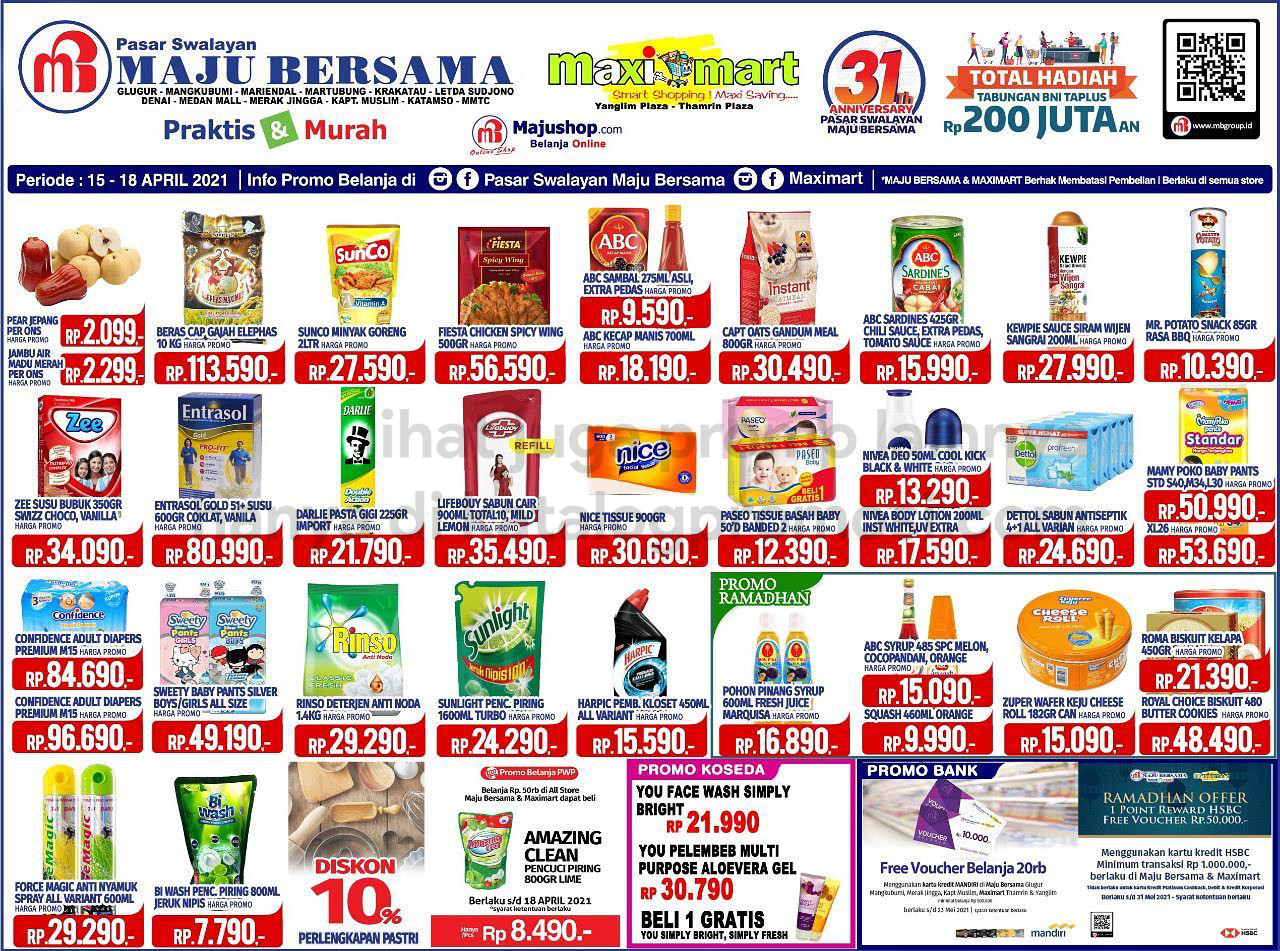 Katalog Maximart Promo Weekend Periode 15-18 April 2021