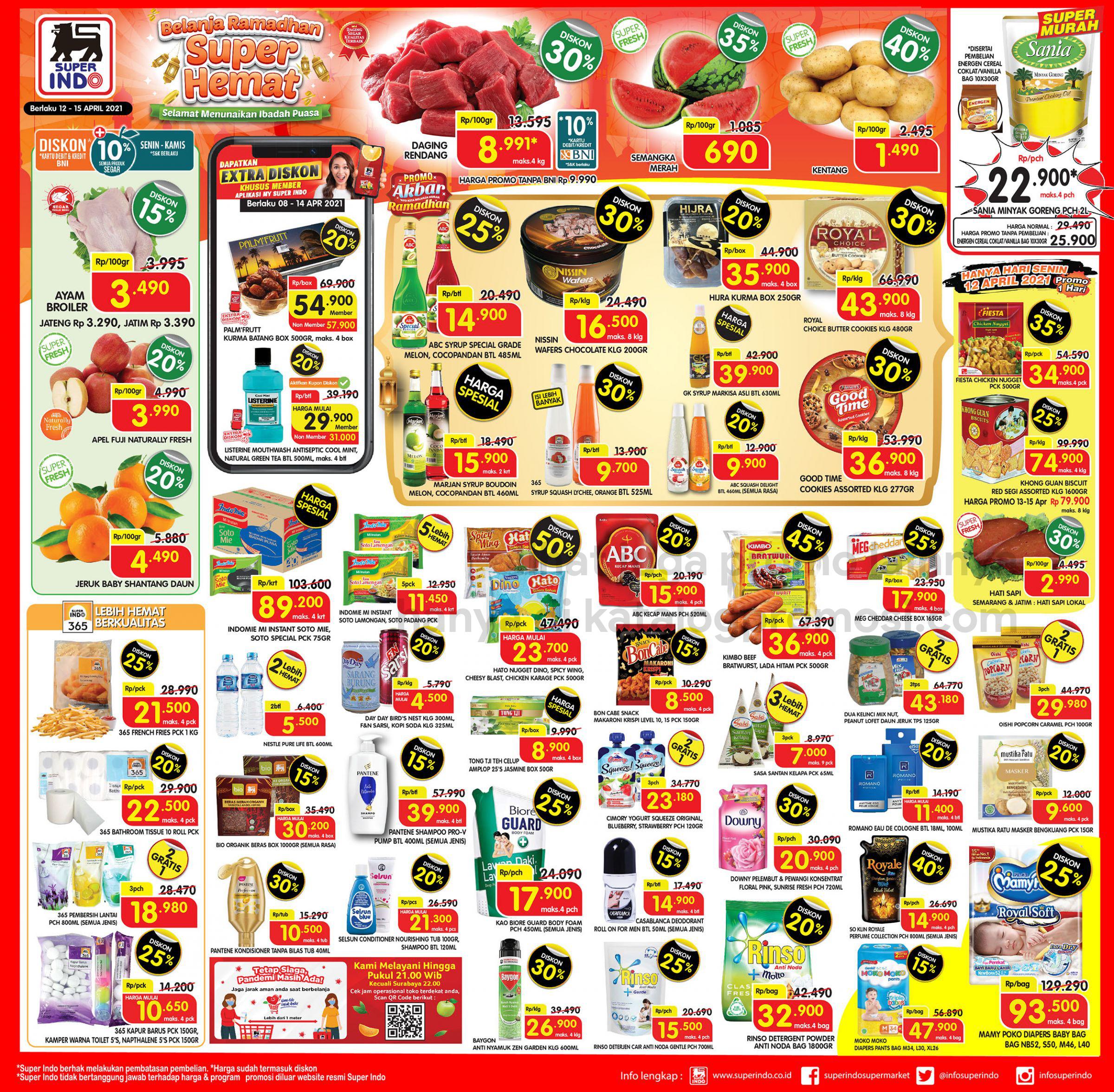 Promo Superindo Katalog Awal Pekan (Weekday) periode 12-15 April 2021