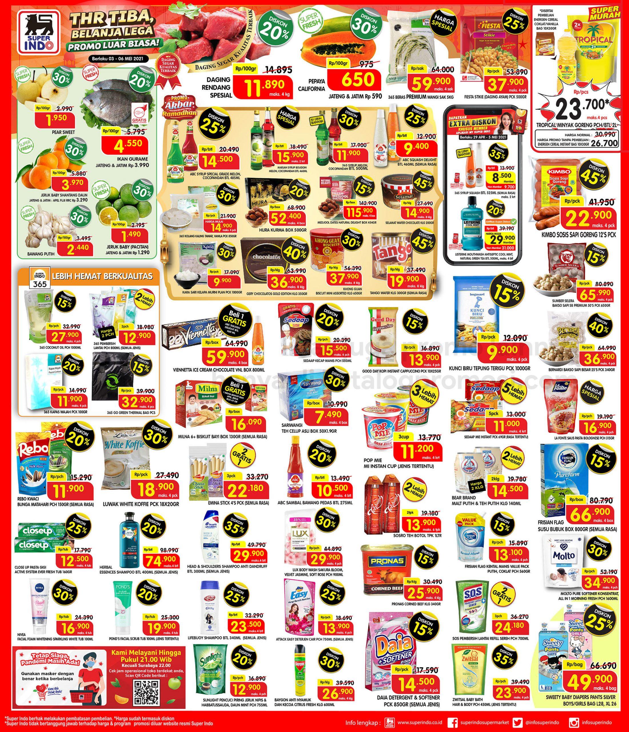 Promo Superindo Katalog Awal Pekan (Weekday) periode 03-06 Mei 2021