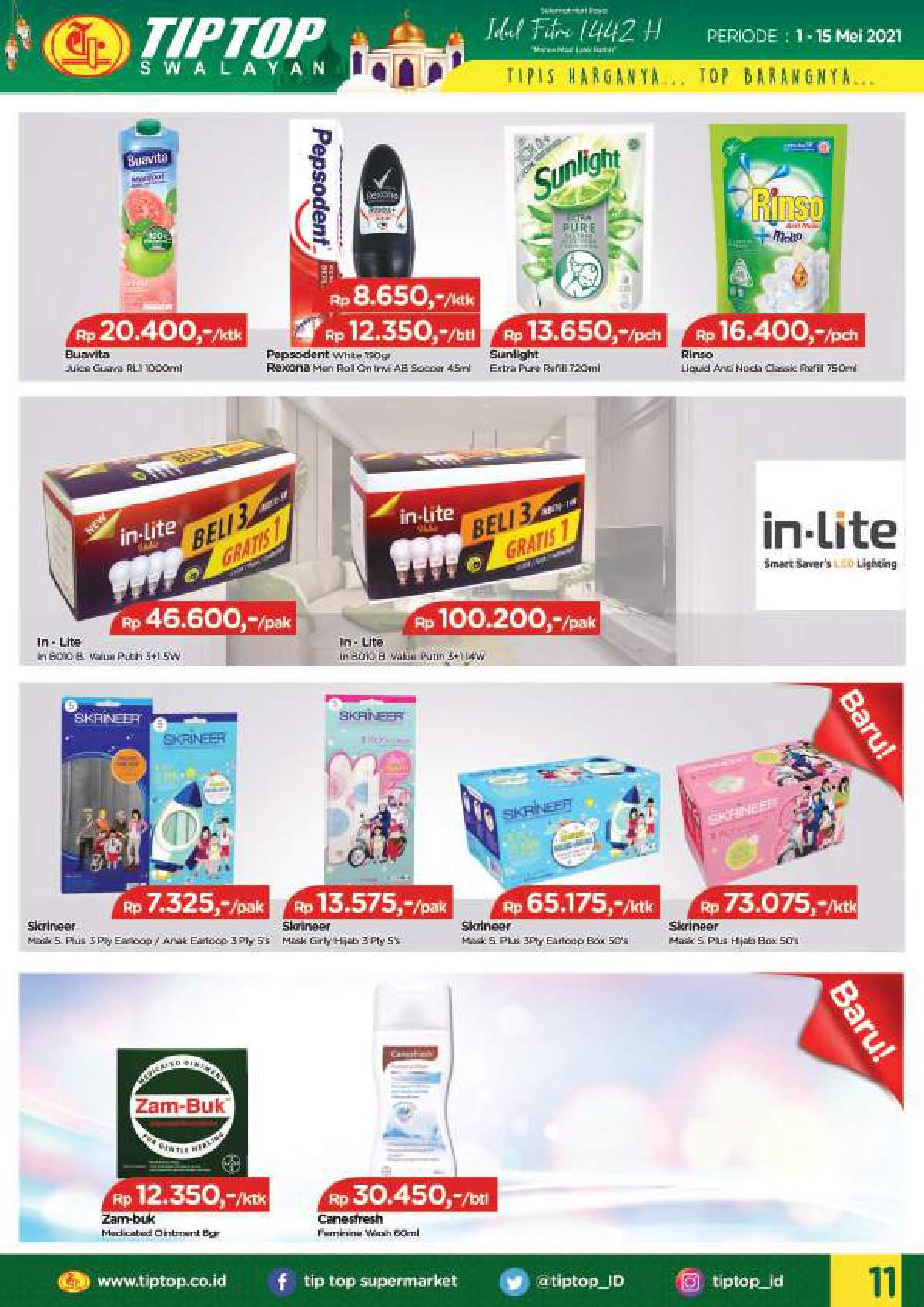 Katalog TIP TOP PASAR SWALAYAN Promo Mingguan Periode 01-15 Mei 2021