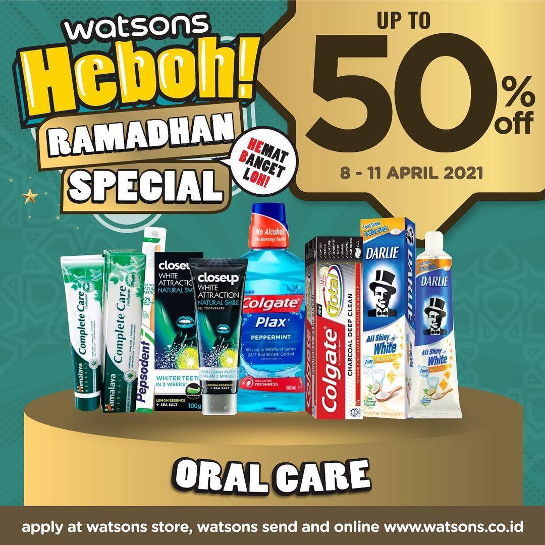 WATSONS Weekend Special (WES) HEBOH! RAMADHAN SPECIAL - Discount up to 50% off berlaku tanggal 08-11 April 2021