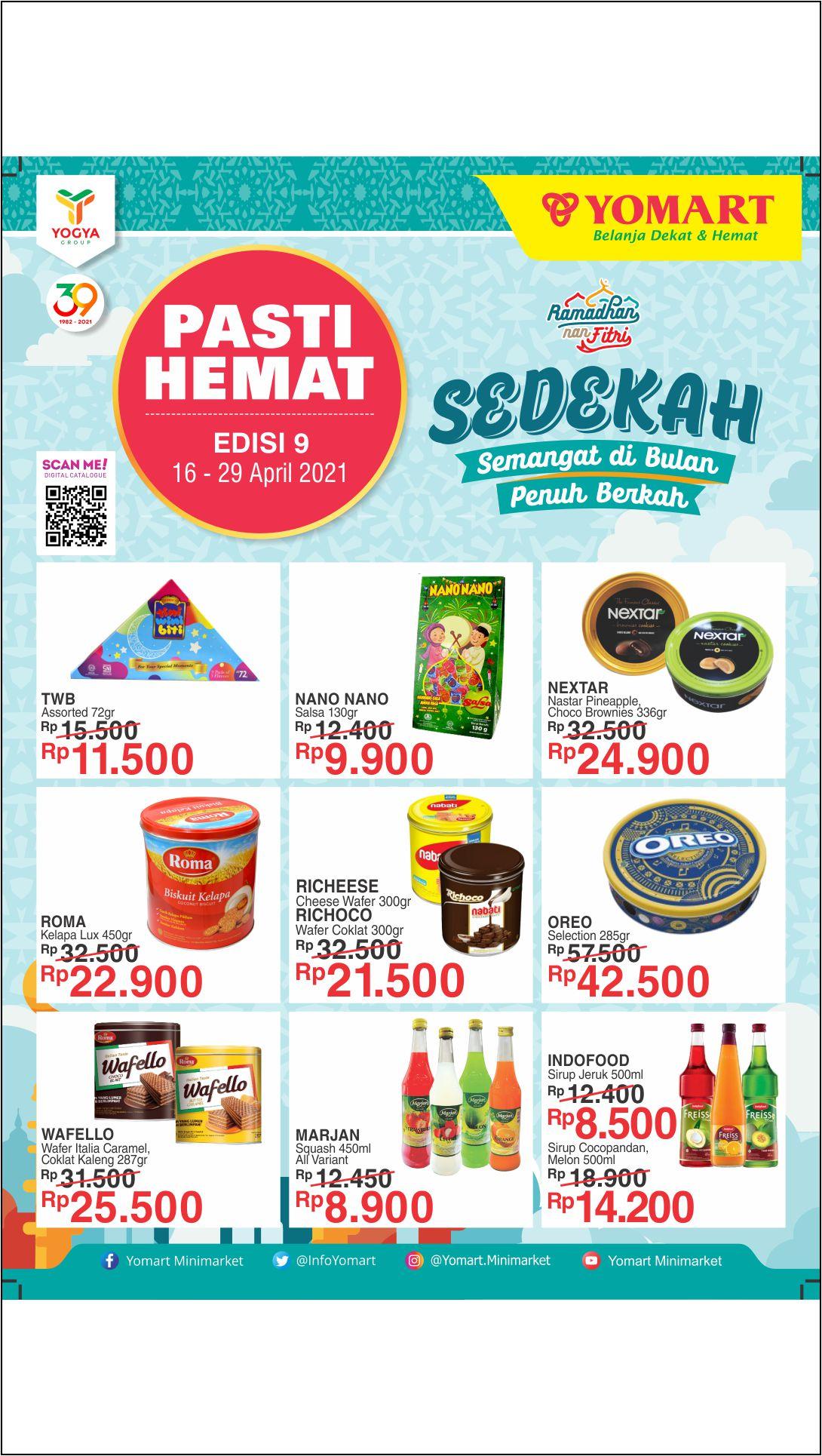 Katalog Yomart Minimarket Promo Mingguan periode 16-29 April 2021