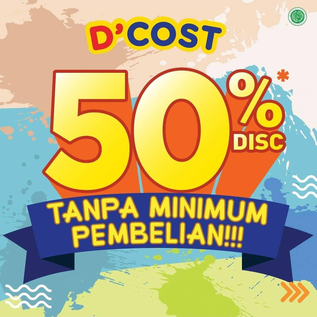 Promo DCOST DISKON 50% untuk MENU PILIHAN