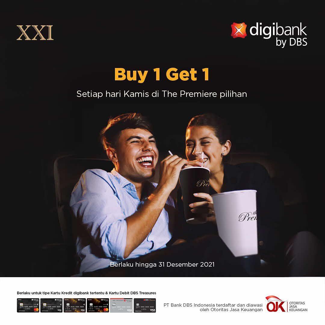 Promo CINEMA XXI - BELI 1 GRATIS 1 untuk Tiket The Premiere dengan Kartu Kredit Digibank