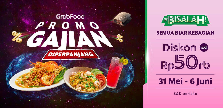 Promo GRABFOOD Gajian  - DISKON hingga Rp. 50.000