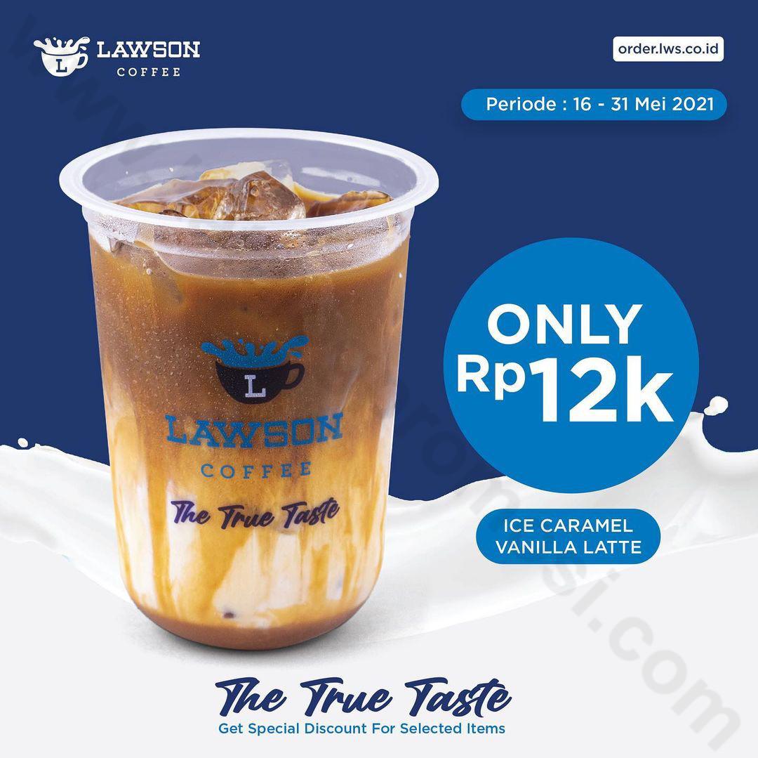 LAWSON Promo Harga Spesial Ice Caramel Vanilla Latte Hanya Rp. 12.000