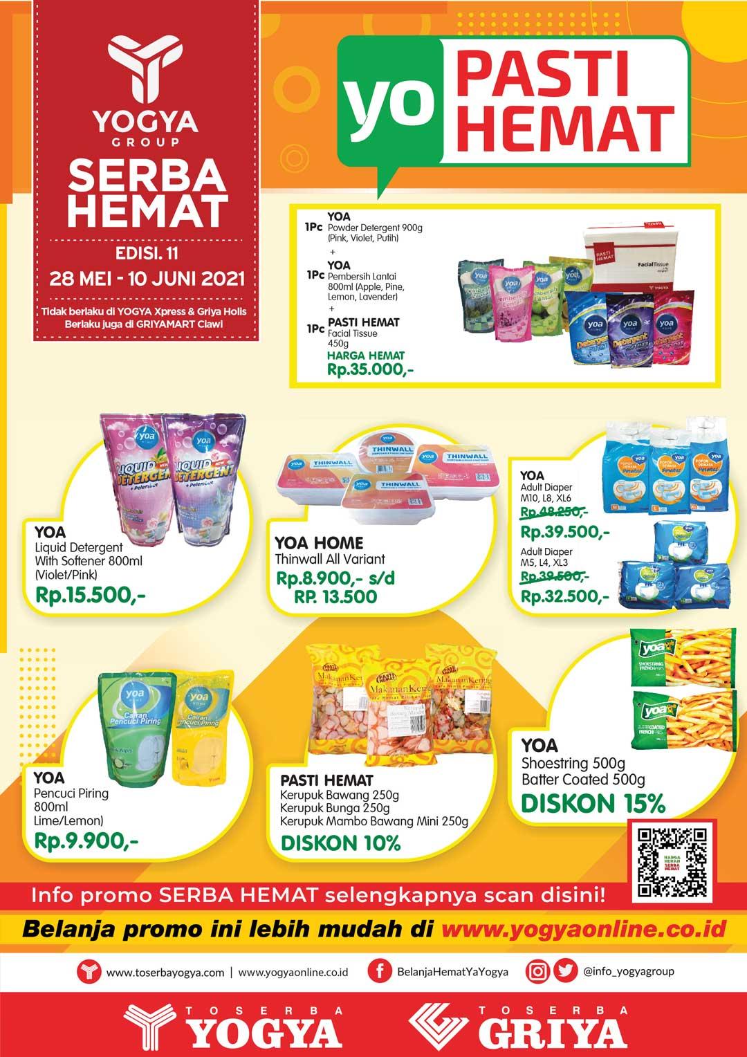 Katalog Toserba Yogya Promo SERBA HEMAT periode 11-24 Juni 2021