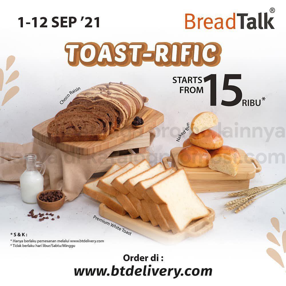 Promo BREADTALK Terbaru - TOAST-RIFIC! Harga spesial untuk varian Toast