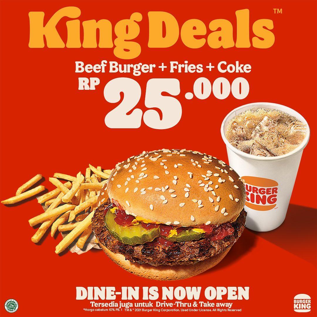 Promo BURGER KING KING DEALS! Harga Spesial Paket Pilihan mulai Rp. 25.000