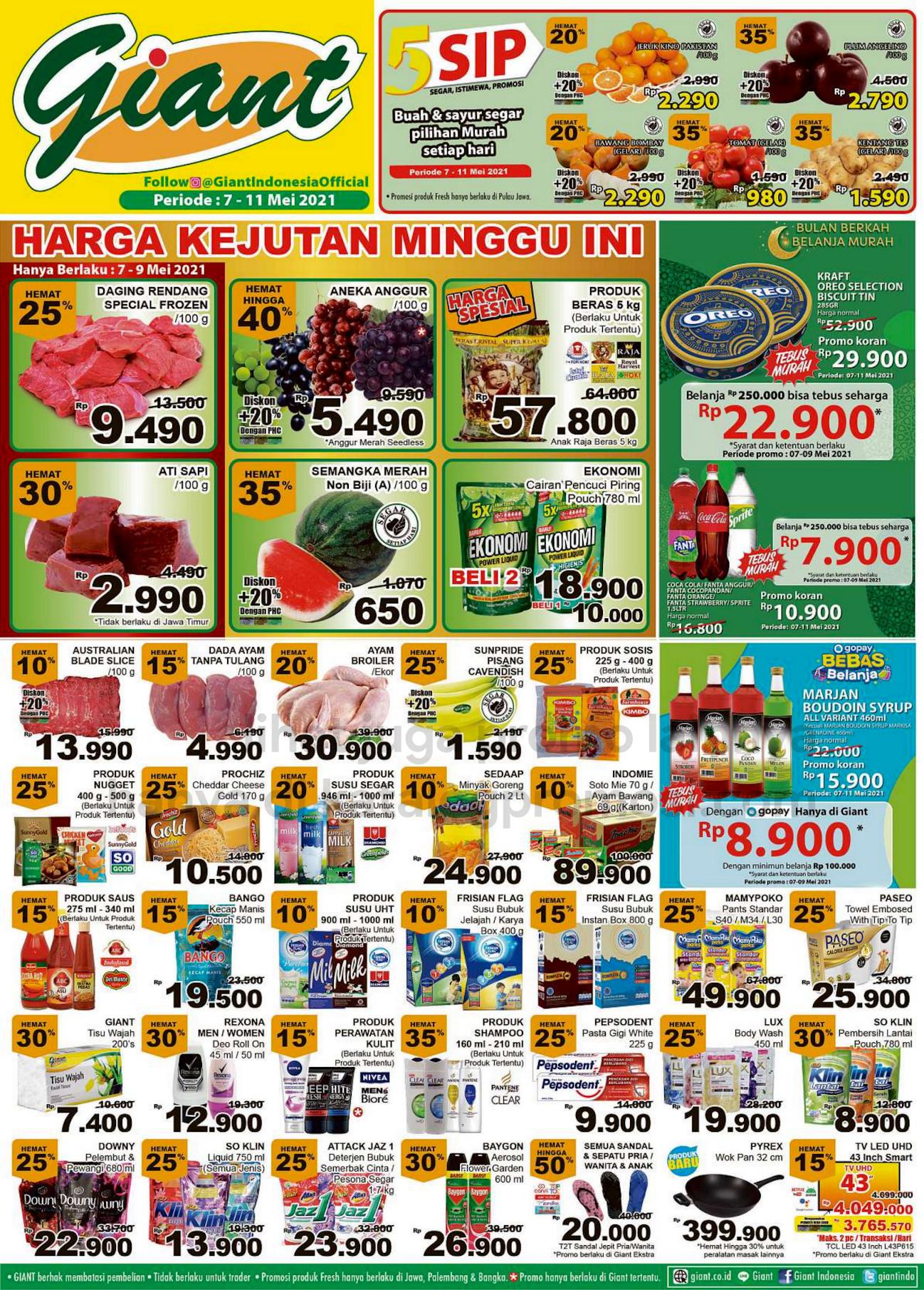 Promo Giant JSM Katalog Weekend periode 07-11 Mei 2021