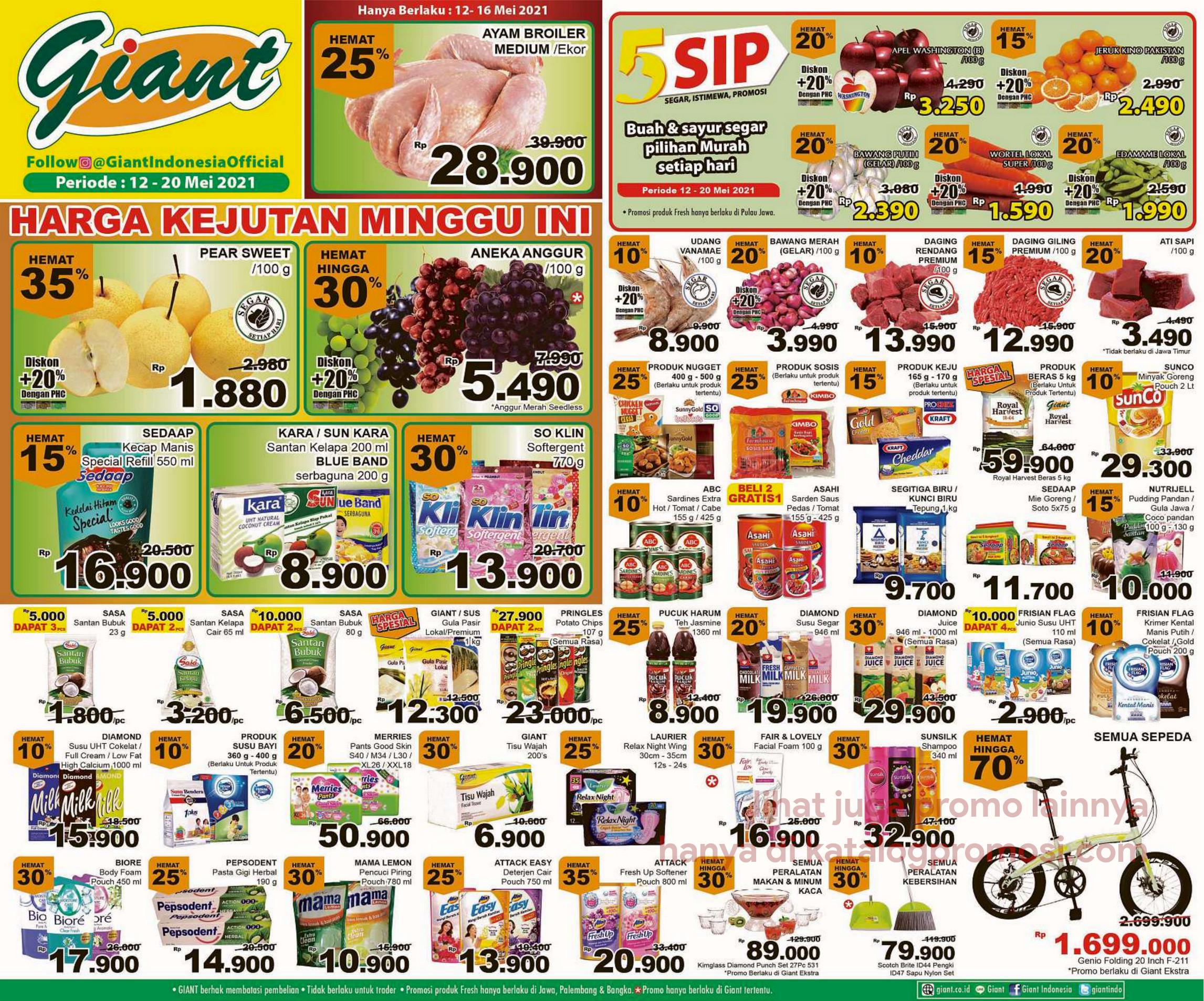 Promo Giant JSM Katalog Weekend periode 12-20 Mei 2021