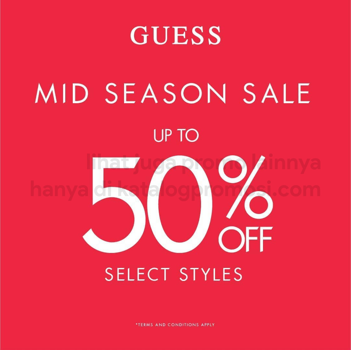 Promo GUESS MID SEASON SALE - DISCOUNT up to 50% off