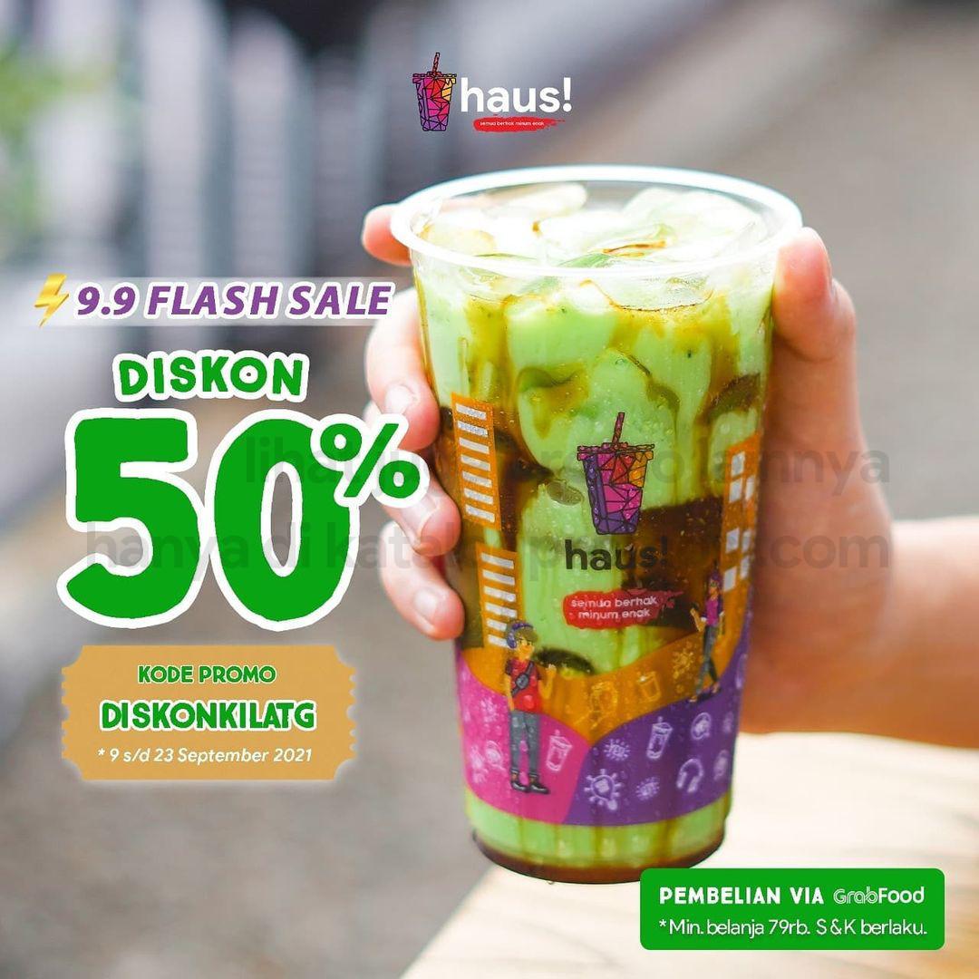 HAUS Promo 9.9 FLASH SALE – DISKON 50% khusus pemesanan via GRABFOOD