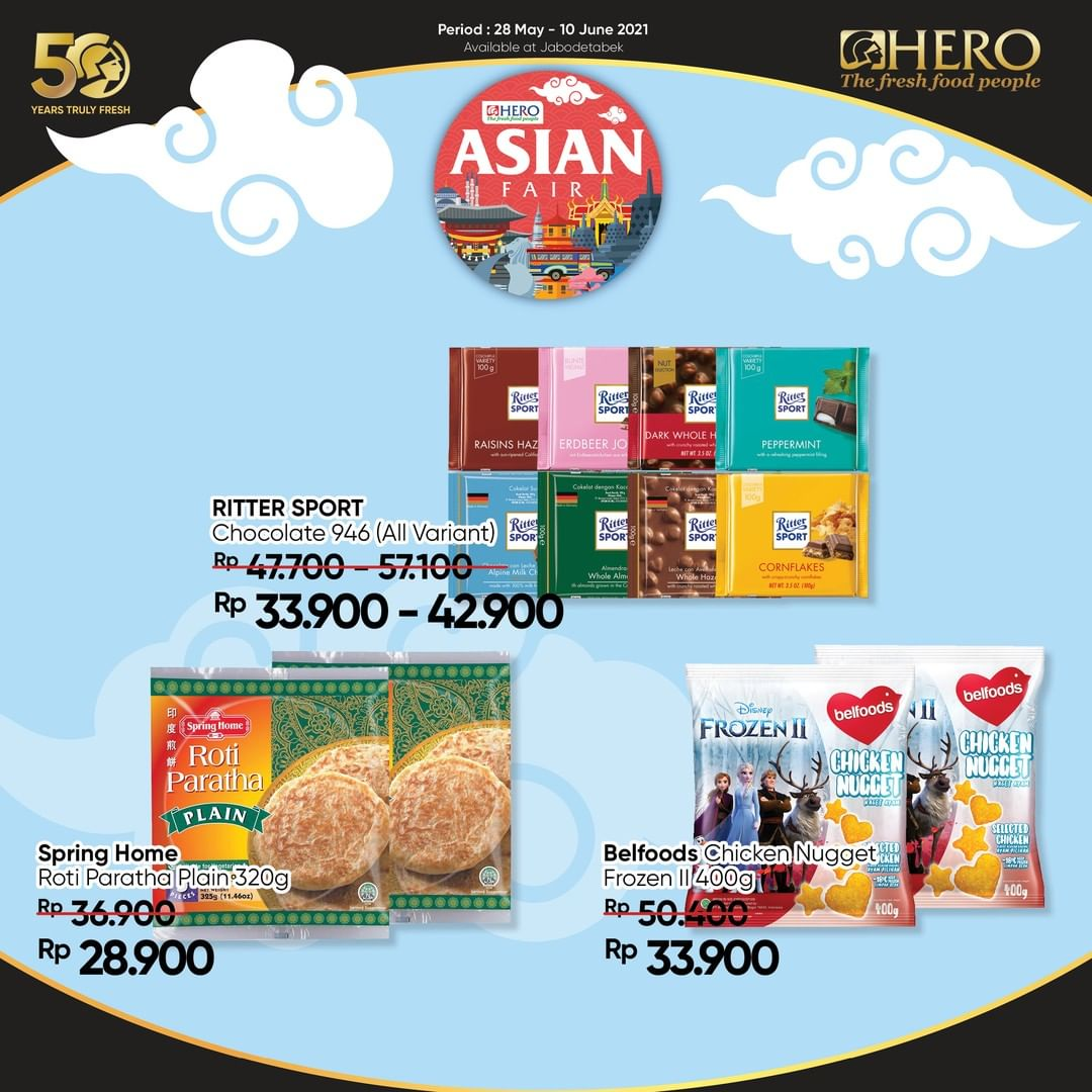 Promo HERO SUPERMARKET Katalog Eksklusif Asian Fair periode 28 Mei - 10 Juni 2021