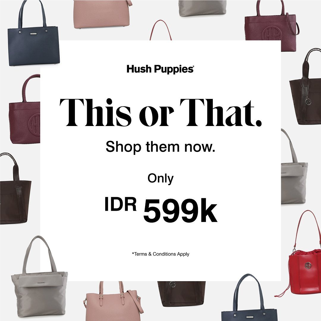 Promo Hush Puppies - Selected Handbags only IDR 599.000