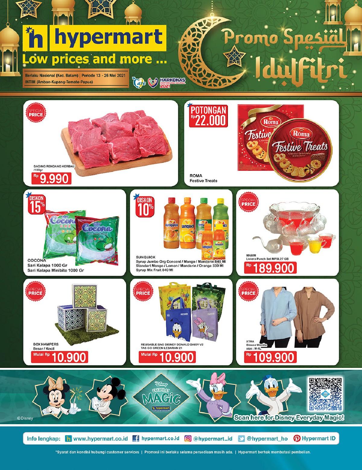 Promo Hypermart Katalog Belanja Mingguan periode 13-26 Mei 2021