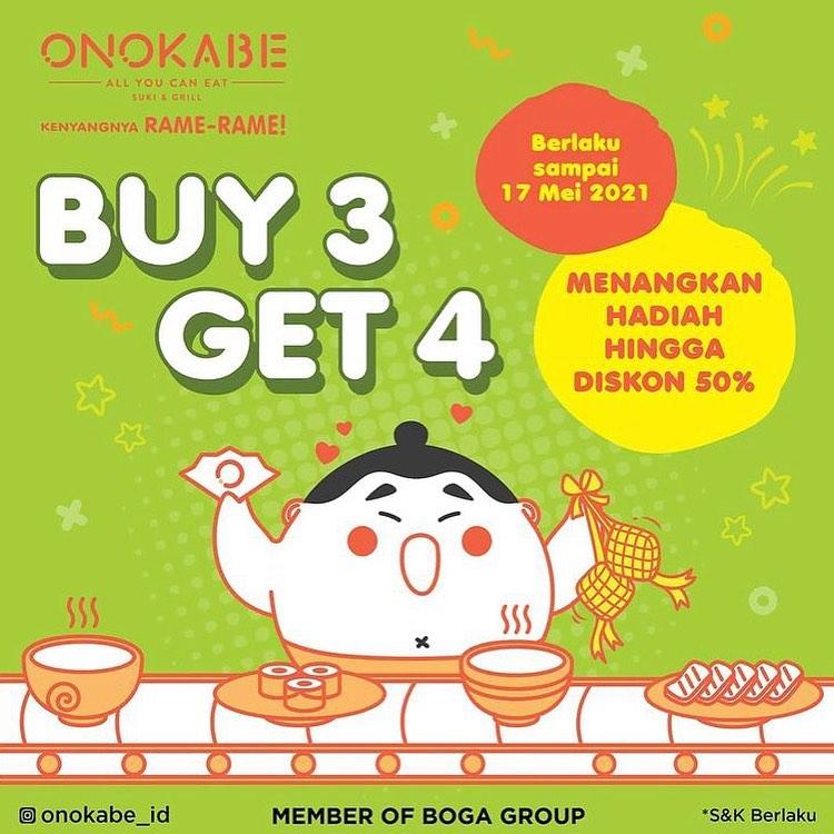 Promo ONOKABE BELI 3 GRATIS 1 untuk pembelian paket premium