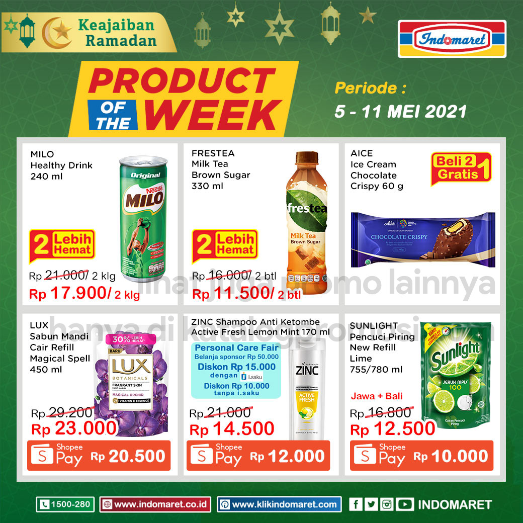 INDOMARET Promo PRODUCT of The Week periode 05-11 Mei 2021