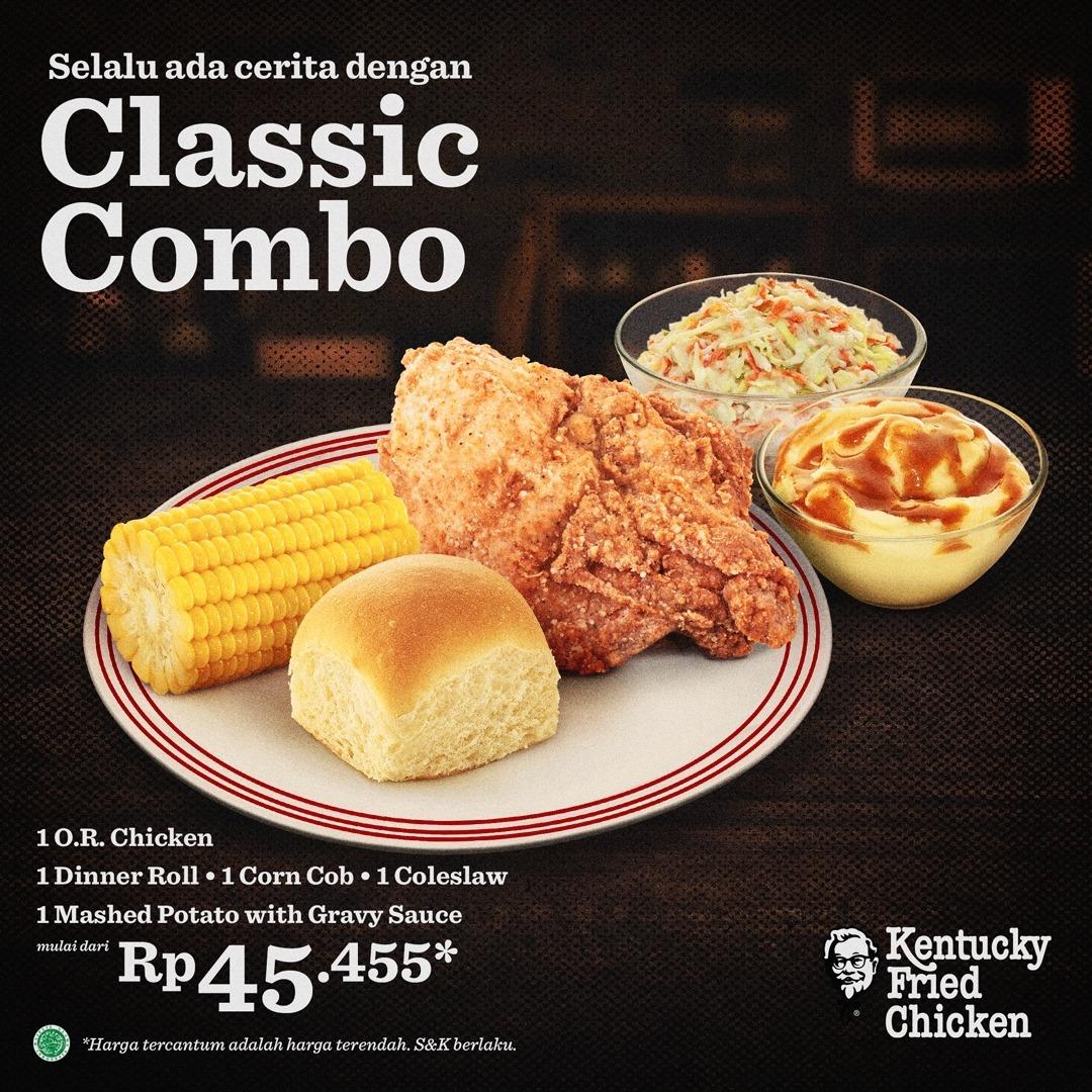 KFC CLASSIC COMBO HADIR KEMBALI! Harga mulai Rp. 45.455